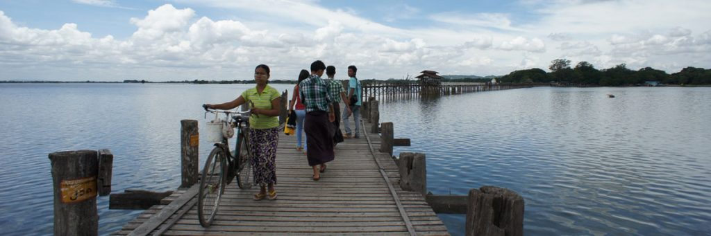 U Bein Bridge in Mandalay